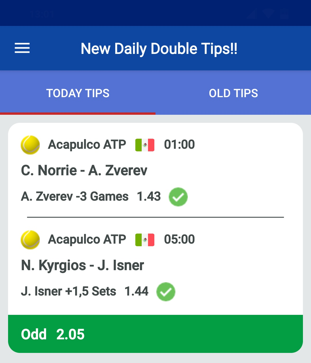 daily double tips tennis
